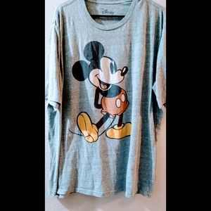 Gray oversized Mickey mouse t shirt